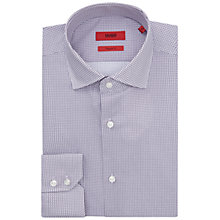 Buy HUGO by Hugo Boss C-Gordon Circle Print Regular Fit Shirt, Dark Purple Online at johnlewis.com