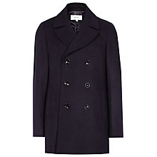 Buy Reiss Bravo Double-Breasted Peacoat, Navy Online at johnlewis.com