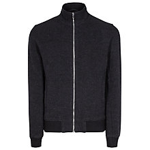 Buy Reiss Reggie Pure Wool Zip Bomber Jacket, Indigo Online at johnlewis.com