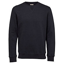 Buy Selected Homme Boris Crew Neck Sweatshirt, Total Eclipse Online at johnlewis.com