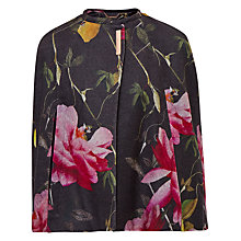 Buy Ted Baker Haulie Citrus Bloom Cape, Black Online at johnlewis.com
