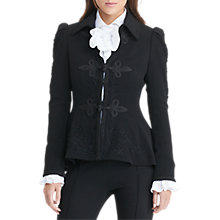 Buy Lauren Ralph Lauren Soutache-Trim Wool Jacket, Black Online at johnlewis.com