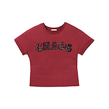 Buy Lee Chaos T-Shirt, Dark Red Online at johnlewis.com
