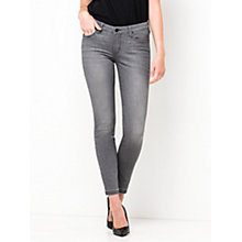 Buy Lee Scarlett Raw Edge Cropped Skinny Jeans,  Authentic Grey Online at johnlewis.com