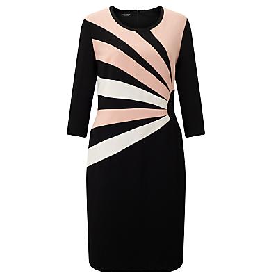 Gerry Weber 3/4 Sleeve Jersey Dress, Black/Peach