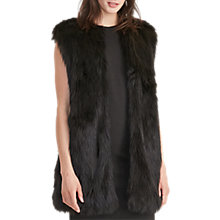 Buy Lauren Ralph Lauren Yeremey Faux Fur Gilet, Black Online at johnlewis.com