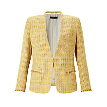 Buy Weekend MaxMara Anny Tweed Jacket, Yellow Online at johnlewis.com