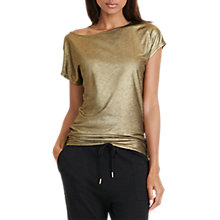 Buy Lauren Ralph Lauren Rolatyn Top, Gold Online at johnlewis.com