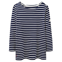 Buy Joules Harbour Stripe 3/4 Sleeve Jersey Top Online at johnlewis.com