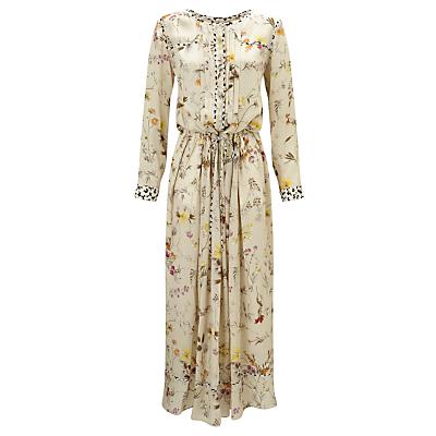 Weekend MaxMara Vivy Floral Print Silk Dress, Beige