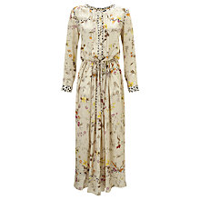 Buy Weekend MaxMara Vivy Floral Print Silk Dress, Beige Online at johnlewis.com
