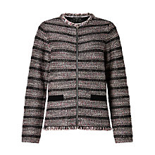 Buy Weekend MaxMara Attore Boucle Jacket, Light Grey Online at johnlewis.com