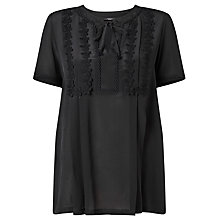 Buy Weekend MaxMara Landa Blouse, Black Online at johnlewis.com