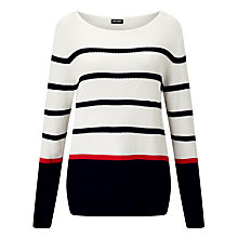 Buy Gerry Weber Textured Stripe Jumper, Multi Online at johnlewis.com