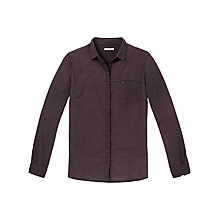 Buy Lee Slim Shirt, Plum/Black Online at johnlewis.com