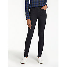 Buy Lee Scarlett High Waist Skinny Jeans, Black Rinse Online at johnlewis.com