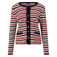 Buy Gerry Weber Textured Stripe Cardigan, Multi Online at johnlewis.com