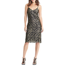 Buy Lauren Ralph Lauren Crystalin Dress, Gold Online at johnlewis.com