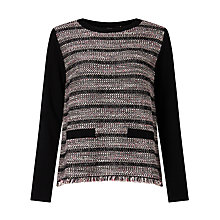 Buy Weekend MaxMara Sila Boucle Stripe Jumper, Black Online at johnlewis.com