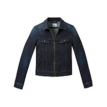 Buy Lee Zip Through Denim Jacket, Super Dark Blue Online at johnlewis.com