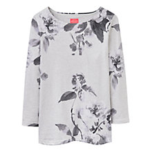 Buy Joules Harbour 3/4 Sleeve Printed Jersey Top, Creme Floral Online at johnlewis.com