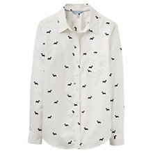 Buy Joules Lucie Scotty Dog Print Shirt, Cream Online at johnlewis.com