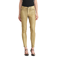 Buy Lauren Ralph Lauren Kalyse Skinny Jeans, Gilded Black Online at johnlewis.com