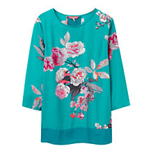 Buy Joules Leah Floral Print Top, Emerald Beau Bloom Online at johnlewis.com