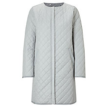 Buy Weekend MaxMara Maestro Quilted Coat, Light Grey Online at johnlewis.com