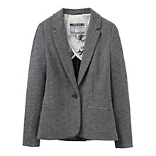 Buy Joules Justine Textured Jersey Blazer, Dark Grey Online at johnlewis.com