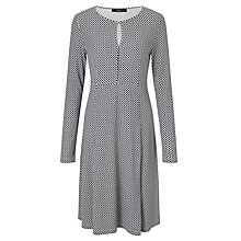 Buy Weekend MaxMara Urbano Printed Jersey Dress, Ultramarine/White Online at johnlewis.com