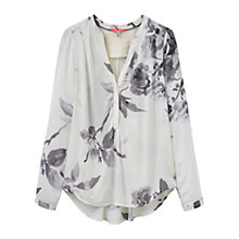 Buy Joules Rosamund Printed Blouse, Creme Bloom Online at johnlewis.com