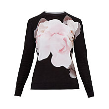 Buy Ted Baker Asteer Porcelain Rose Jumper, Black Online at johnlewis.com