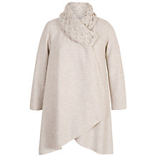 Buy Chesca Aran Collar Coat, Oatmeal Online at johnlewis.com