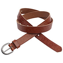 Buy Fat Face Isla Embossed Floral Belt, Tan Online at johnlewis.com