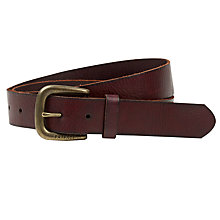 Buy Fat Face Lottie Heart Leather Belt, Chocolate Online at johnlewis.com
