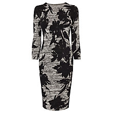 Buy Karen Millen Floral Knit Dress, Grey/Multi Online at johnlewis.com