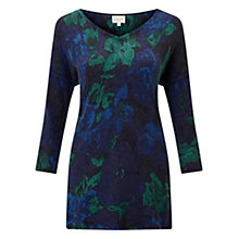 Buy East Alexandra Rose Jumper, Teal Online at johnlewis.com
