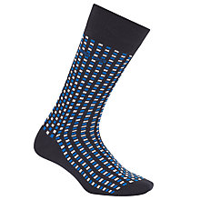 Buy BOSS Square Pattern Socks, Blue Online at johnlewis.com