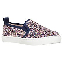 Buy Mini Miss KG Children's Mega Glitter Slip On Trainers, Multi Online at johnlewis.com