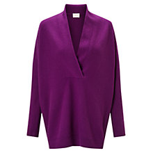 Buy East Oversized Wrap Jumper, Magenta Online at johnlewis.com