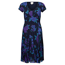 Buy East Francesca Pleat Dress, Amethyst Online at johnlewis.com