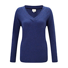 Buy East Fleck V-Neck Jumper, Blue Online at johnlewis.com