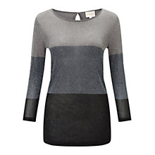 Buy East Metalic Block Stripe Jumper, Slate Online at johnlewis.com