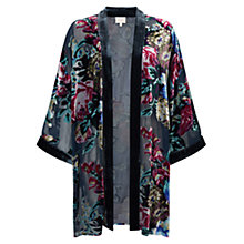 Buy East Nightingale Devore Kimono, Emerald Online at johnlewis.com