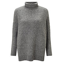 Buy East Metallic Chunky Knit Jumper, Grey Online at johnlewis.com