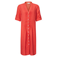 Buy East Pintuck Linen Dress, Orange Online at johnlewis.com