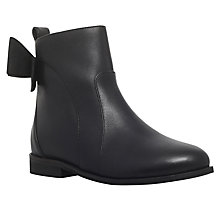 Buy Mini Miss KG Children's Smartie Leather Ankle Boots, Black Online at johnlewis.com