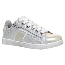 Buy Mini Miss KG Children's Go Faster Zip Detail Trainers, Grey Online at johnlewis.com