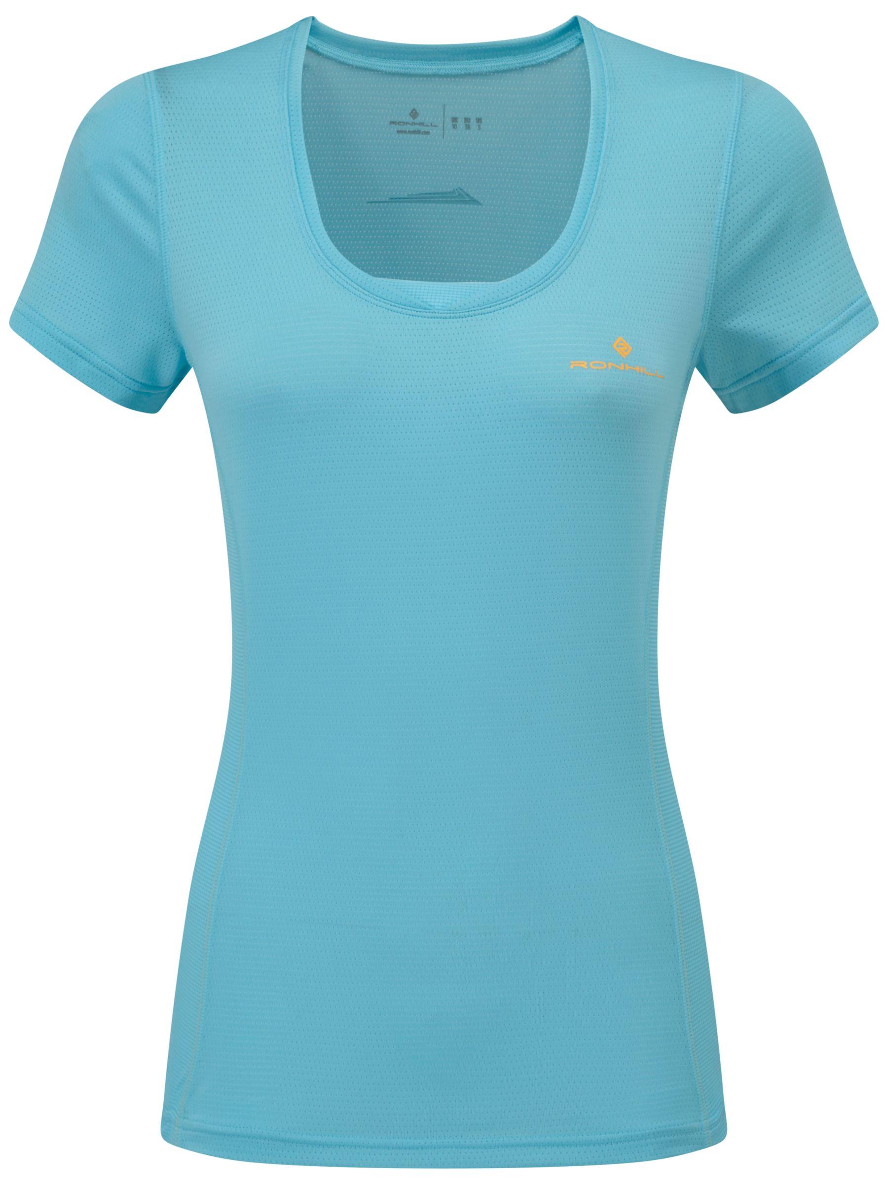 Ronhill Ronhill Stride Zeal Short Sleeve Running Top, Blue